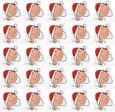 Santa Claus humoristiska komiker med maskot och symboler royaltyfri illustrationer