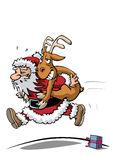 Santa claus in hurry Royalty Free Stock Images