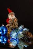 Santa Claus hurry on holiday Stock Photography