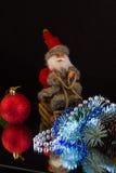 Santa Claus hurry on holiday Stock Photos