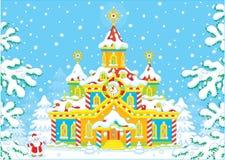 Santa Claus hus Arkivbilder