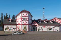 Santa Claus hus Fotografering för Bildbyråer