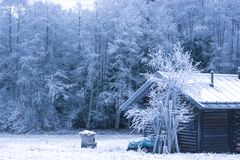 the Santa Claus hut stock image