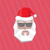 Santa Claus i exponeringsglas Arkivfoto