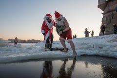 Santa Claus i hålet Royaltyfri Bild