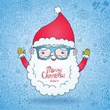 Santa Claus i hipsterexponeringsglas Fotografering för Bildbyråer