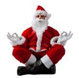 Santa Claus i meditation Royaltyfri Bild