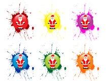 Santa claus icon Royalty Free Stock Images
