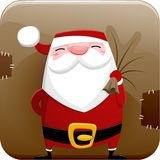 Santa Claus Icon Photo libre de droits
