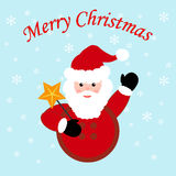 Santa Claus Icon Images stock