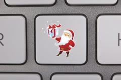 Santa Claus Icon Keyboard Royalty Free Stock Image