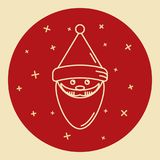Santa Claus icon in thin line style. Royalty Free Stock Images