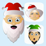 Santa Claus icon vector and MIS    elf difficult unconventional territory on a white background to separate easily. Santa Claus icon vector and MIS Santa Claus Stock Photos