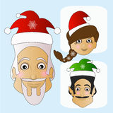 Santa Claus icon vector and MIS    elf phenomenal exotic extravagant on a white background to separate easily. Santa Claus icon vector and MIS Santa Claus and Royalty Free Stock Images