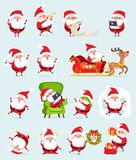 Santa Claus Icons Collection Vector Illustration Photos libres de droits