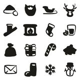 Santa Claus Icons Freehand Fill Foto de Stock Royalty Free