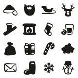 Santa Claus Icons Freehand Fill Foto de archivo libre de regalías