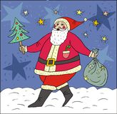Santa Claus illustration Royalty Free Stock Photo