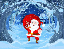 Santa Claus. Illustration of cute Santa Claus stock illustration
