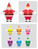 Santa Claus Illustration. This is a Santa Claus Illustration in different color versions Stock Photos