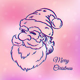 Santa Claus. Illustration of a Santa Claus on pink background Royalty Free Stock Photos
