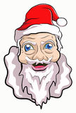 Santa claus. Illustration portrait santa claus smiling Stock Photography