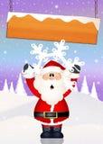 Santa Claus. Illustration of Santa Claus with snowflake Royalty Free Stock Image
