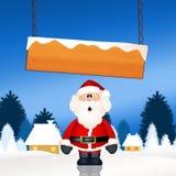 Santa Claus. Illustration of Santa Claus with star Royalty Free Stock Photo