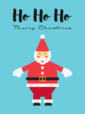 Santa Claus Illustration. This is a Santa Claus Illustration with the words: Ho Ho Ho - Merry Christmas Royalty Free Stock Photos
