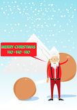 Santa Claus im Stil des Hippies Stockfotos