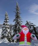 Santa Claus im Wald Stockbild