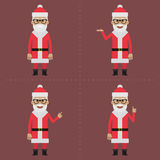 Santa Claus indicates in different poses Stock Image