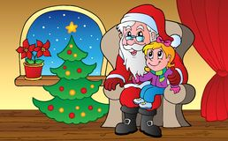 Santa Claus indoor scene 1 Royalty Free Stock Photos
