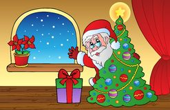 Santa Claus indoor scene 2 Stock Photography