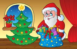 Santa Claus indoor scene 3 Royalty Free Stock Image