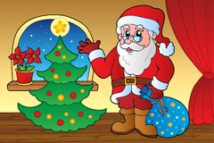 Santa Claus indoor scene 4 Royalty Free Stock Photos