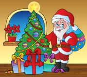 Santa Claus indoor scene 5 Royalty Free Stock Images