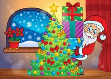 Santa Claus indoor scene 7 Royalty Free Stock Image