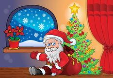 Santa Claus indoor scene 8 Stock Photography