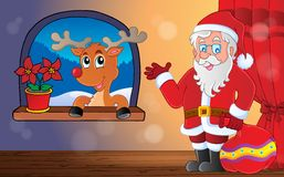 Santa Claus indoor scene 9 Royalty Free Stock Image