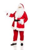 Santa Claus integrale con un gesto benvenuto Fotografia Stock Libera da Diritti