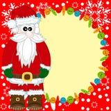 Santa Claus invitation card Stock Photography