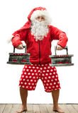 Santa Claus with the irons Stock Image