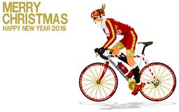 Free Santa Claus Is Riding The Road Bike On Transparent Background Stock Images - 197531774