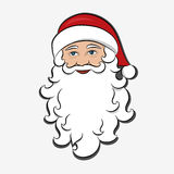 Santa Claus isolated. Cartoon Character Merry Christmas. Holiday clipart.  Royalty Free Stock Photos