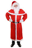 Santa Claus isolated full length portrait with hat and beard on. Santa Claus full length portrait with hat and beard on Christmas isolated on a white background stock photo