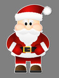 Santa Claus isolated on a grey background. Stock Image