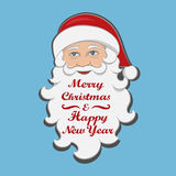 Santa Claus isolated. Merry Christmas and Happy new year message.  Stock Photo