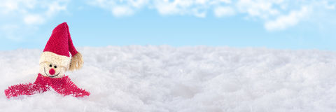 Santa Claus isolated on snow. Santa Claus on snow, background, sky Royalty Free Stock Photos
