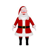 Santa Claus Isolated on White. 3d illustration Stock Photos